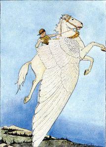 Pegasus in the golden bridle